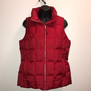 GAP Down Filled RED Quilted PUFFER VEST~sz M~EUC~